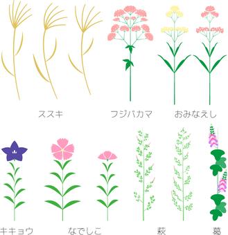 Simple Autumn Northern Grass Set
