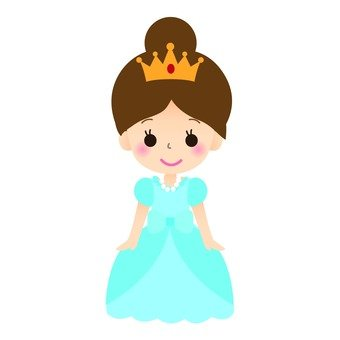 Princesse (robe bleue)