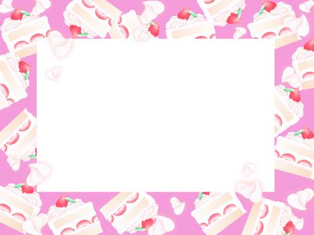 Cake frame (dark pink