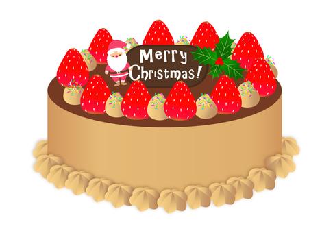 クリスマスケーキ チョコレート味