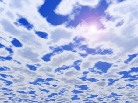 Blue sky (with sun)