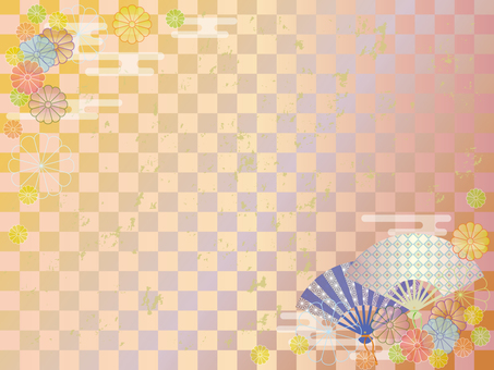扇子和菊花框架2