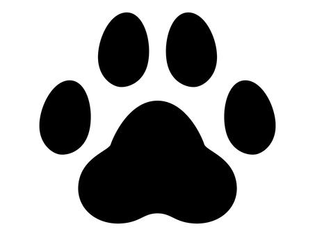 犬の足跡 モノクロ
