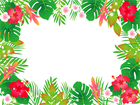 Tropical Flower Frame
