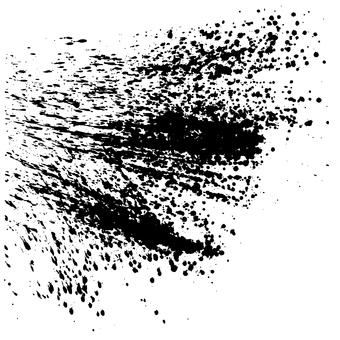 Calligraphy splashing illustrations