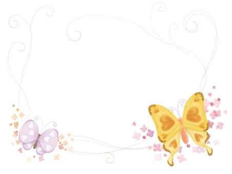 Butterfly and floret frame
