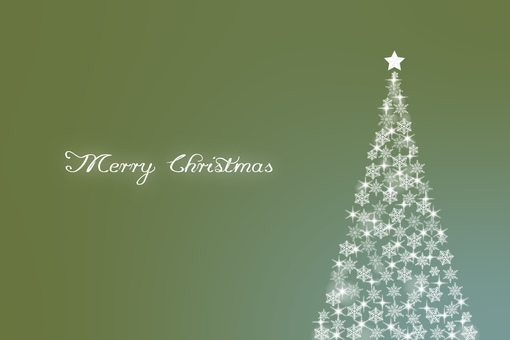 Christmas tree background material