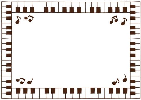 Keyboard frame (sepia)