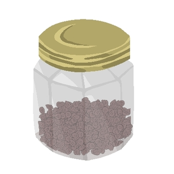 Spices in an octagonal bottle