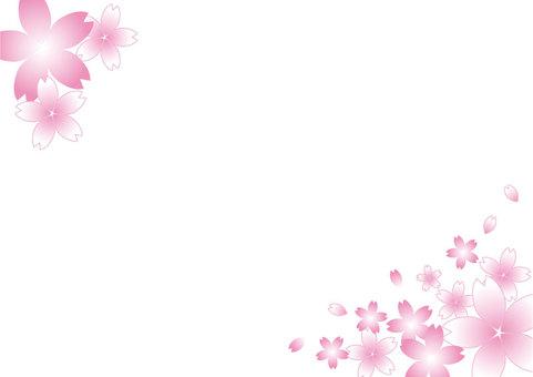 櫻花框架白色01