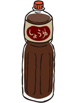 Pet bottle soy sauce
