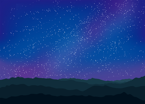 Night sky background, A4 horizontal, Tufu pay