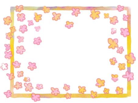 Fluffy flower frame 2