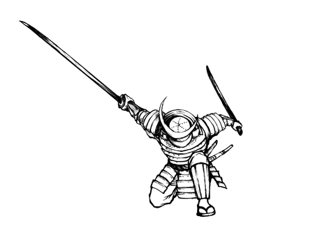 Sengoku Busho Sumi-e illustration 02