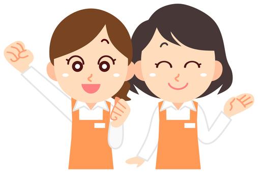 Clerk Salesperson Women Two people