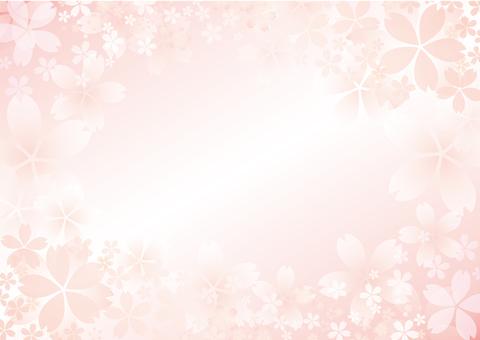 Sakura gradation frame horizontal type