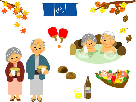 Spa travel old couple