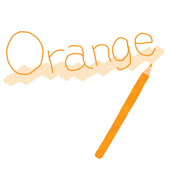 Orange colored pencil