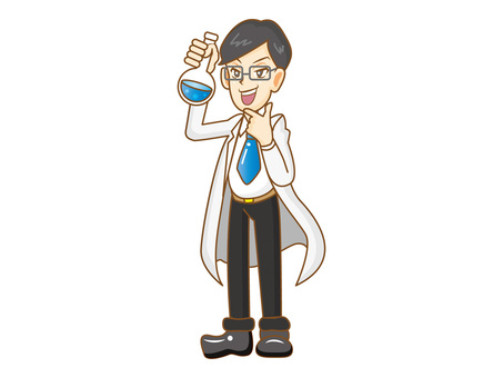 Scientist man with glasses