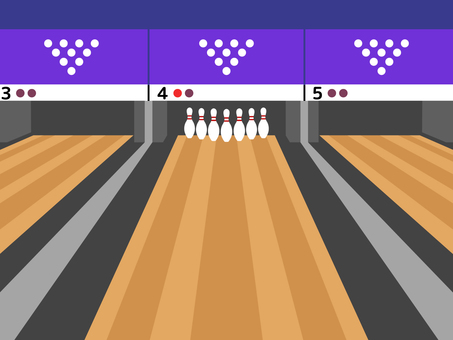 Simple Background Bowling Alley