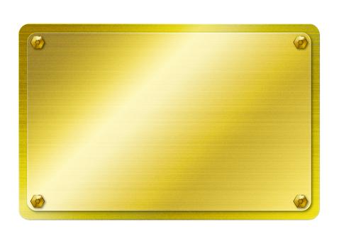 Gold metallic plate