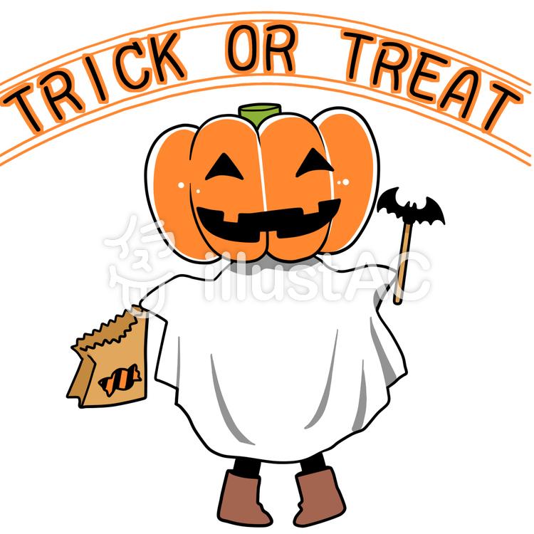 ハロウィン かぼちゃおばけイラスト No 559478無料イラストなら