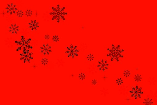 Simple snow background red