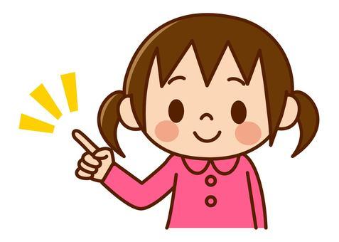 Girls - pointing