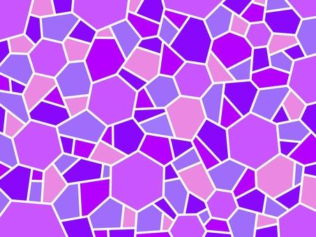 Mosaic White Frame Purple Hexagon