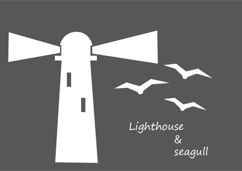 灯台とカモメ