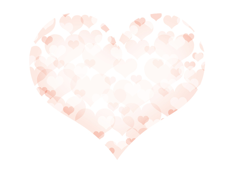Pale Heart filled heart pink