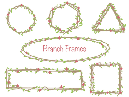 "Frame set ""branches and flowers"""