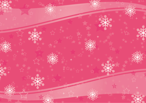 Star and snow background pink