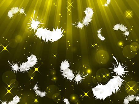 Glitter background with feathers dancing