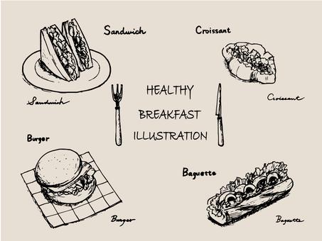 Sandwich monochrome pen image