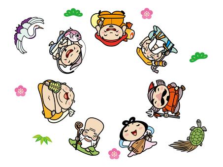 七福神 円形