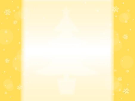 Snow crystal and Christmas tree yellow series