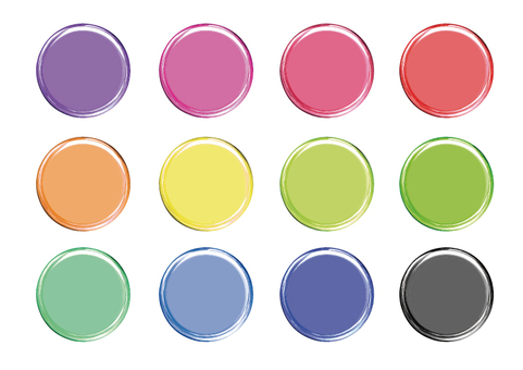 Button / badge material 12 colors