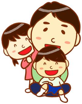 爸爸和孩子