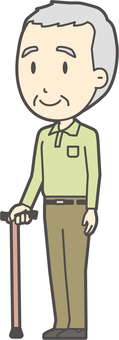 Grandfather polo shirt green-255-whole body