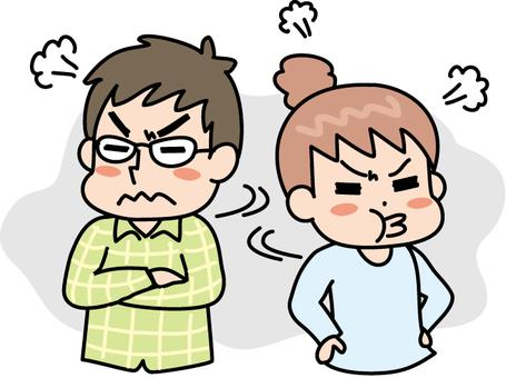 夫人的家庭主婦夫婦打架