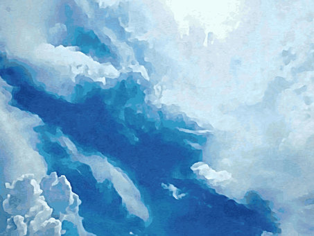 Watercolor painting sky