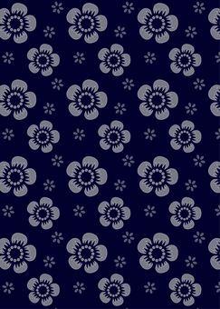 Plum pattern 2 Blue