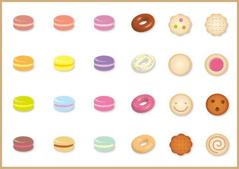 Macarons and donuts and cookies