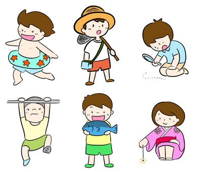 Children various illustrations
