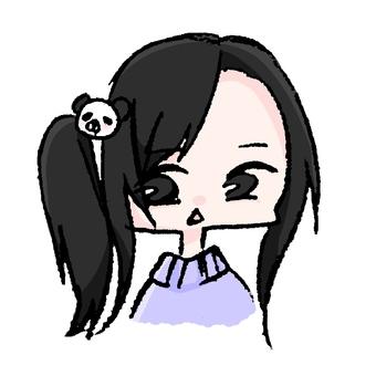 パンダのヘアゴム