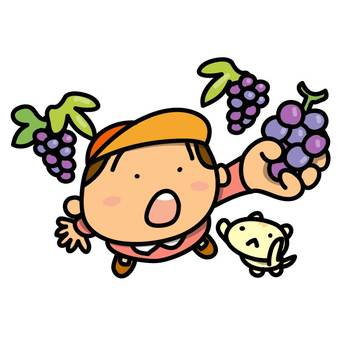 Grape picking and boys