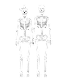 Skeleton couple