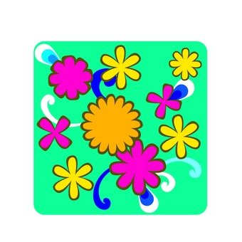 Flower pattern / colorful 2