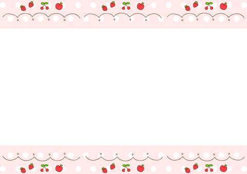 Fruit frame dot background